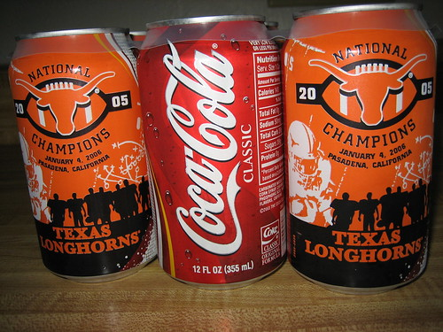 Commemorative National Championship Coca-Cola Cans