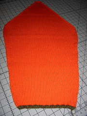 Orange Sweater Sleeve After Blocking