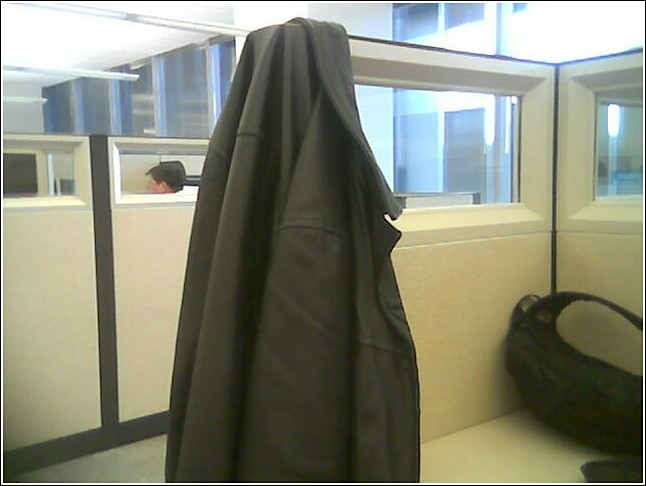 A STRANGER IN MY CUBICLE