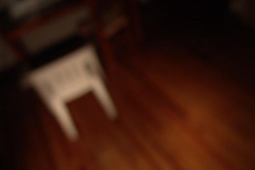 silla desafocada