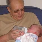 grandpa feeding me<br/>12 Feb 2005