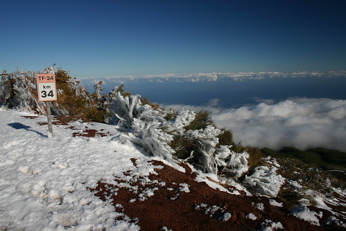 Great views along the TF-24 road on top of the backbone leading off El Teide
