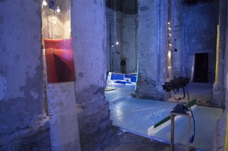 giugiaro blue slab thru  columns