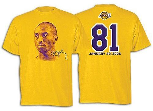 the NBA is selling t-shirts to commemorate Kobe Bryant's 81-point game: