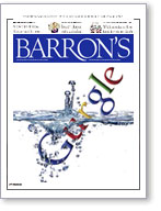 Google on the cover of Barron's magazine