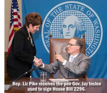 Rep. Liz Pike and Gov. Jay Inslee