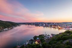pink hour at St. John's harbour, Newfoundland photo by tuanland