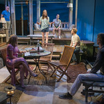 Jonathan Weir (Frank), Susie McMonagle (Maria), Emily Berman (Tessa), Stephen Schellhardt (Edmund), Will Mobley (James) and Jeff Parker (Francois) in DAYS LIKE TODAY at Writers Theatre. Photo by Michael Brosilow.
