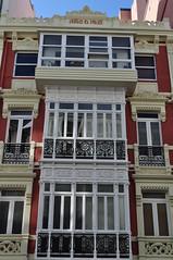 Immeubles Art Nouveau, Ensanche, La Corogne, Galice, Espagne. photo by byb64 (en voyage)
