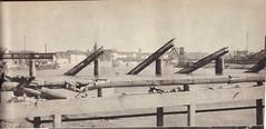 Pont de chalon sur saone detruit par les allemands -Source : éditions GP - Du Tchad au Danube