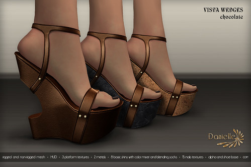 DANIELLE Vista Wedges Chocolate