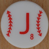 Major League Baseball Scrabble Letter J