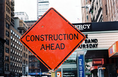 Construction ahead photo by aaronvandorn
