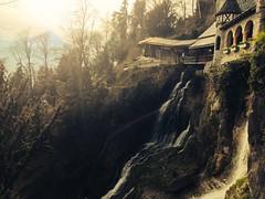 Magical Castle & Waterfall. Interlaken, Switzerland photo by simoncbrown1