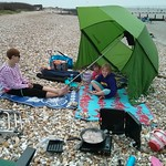 Bacon on the beach<br/>17 May 2014