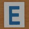 TESCO Hangman blue letter E