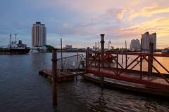 Evening and sunset on the Chao Phraya river in Bangkok, Thailand photo by UweBKK (α 77 on )