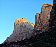 Zion, First Light, Patriarch's Crown 4-30-14m photo by inkknife_2000 (1.75 million views)