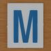 TESCO Hangman blue letter M