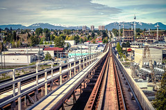 Canada Line Rapid Transit with Vancouver City Skyline photo by TOTORORO.RORO