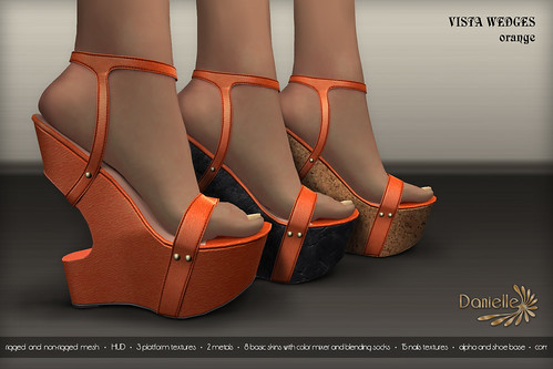 DANIELLE Vista Wedges Orange