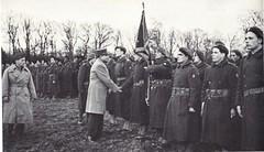 1945 - Alsace - le général de Lattre passe en revue la DFL - Paul Gaujac