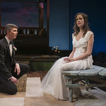 Jarrod Zimmerman (Arnaud) and Emily Berman (Tessa) in DAYS LIKE TODAY at Writers Theatre. Photo by Michael Brosilow.