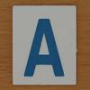 TESCO Hangman blue letter A