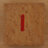 Wooden Cube Red Number 1