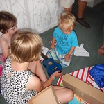 James opening his presents<br/>25 Jul 2014