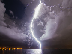 Huge Bolt over Tampa Bay photo by Old Boone
