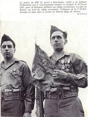 1945- Alsace- fanion BM 24 récupéré 10 février 45  après la libération du village - Paul Gaujac