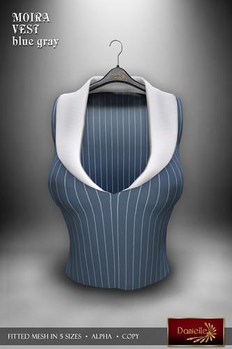 DANIELLE Moira Vest Blue Gray