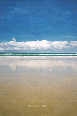 Beach of the long white cloud photo by borealnz