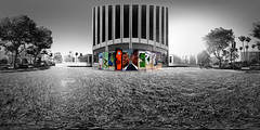 """The Wall Along Wilshire - Ten Sections of the Original Berlin Wall"" photo by Tanja Barnes. She shares her experience with 360° panoramic photography on the Flickr Blog. photo by Flickr"