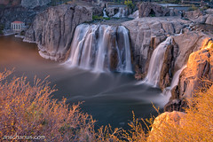 Shoshone Falls - B&W ND1000 photo by Ansgar Hillebrand