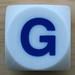 Boggle Dice Letter G