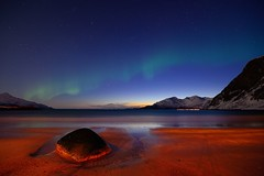 Grøtfjord beach nightview photo by John A.Hemmingsen