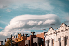Lenticular Cloud Over Carlton photo by Dr Abbate