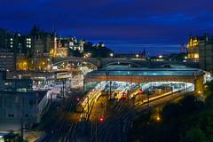 Edinburgh - Waverley Rail, North Bridge, and Old Town photo by kenny mccartney