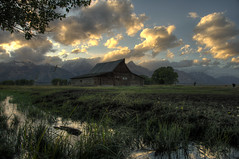 Moulton Barn, Grand Teton National Park HDR photo by Brandon Kopp