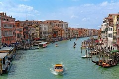 Venice : View from Rialto bridge photo by Pantchoa