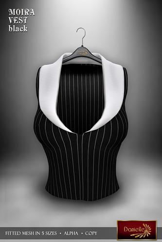DANIELLE Moira Vest Black