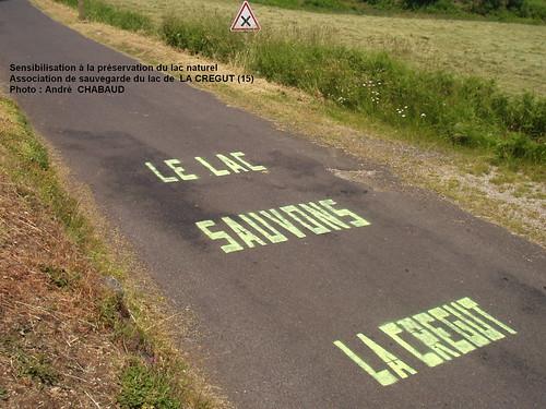 Sensibilisation à la préservation du lac naturel de la Crégut (Cantal)