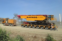 Moving the CC2800-1 on our Goldhofer Modular Trailer photo by Ravago Equipment Rentals, Inc.