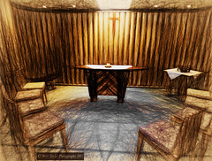 The Side Room at the Christchurch's Cardboard Cathedral photo by Steve Taylor (Photography)