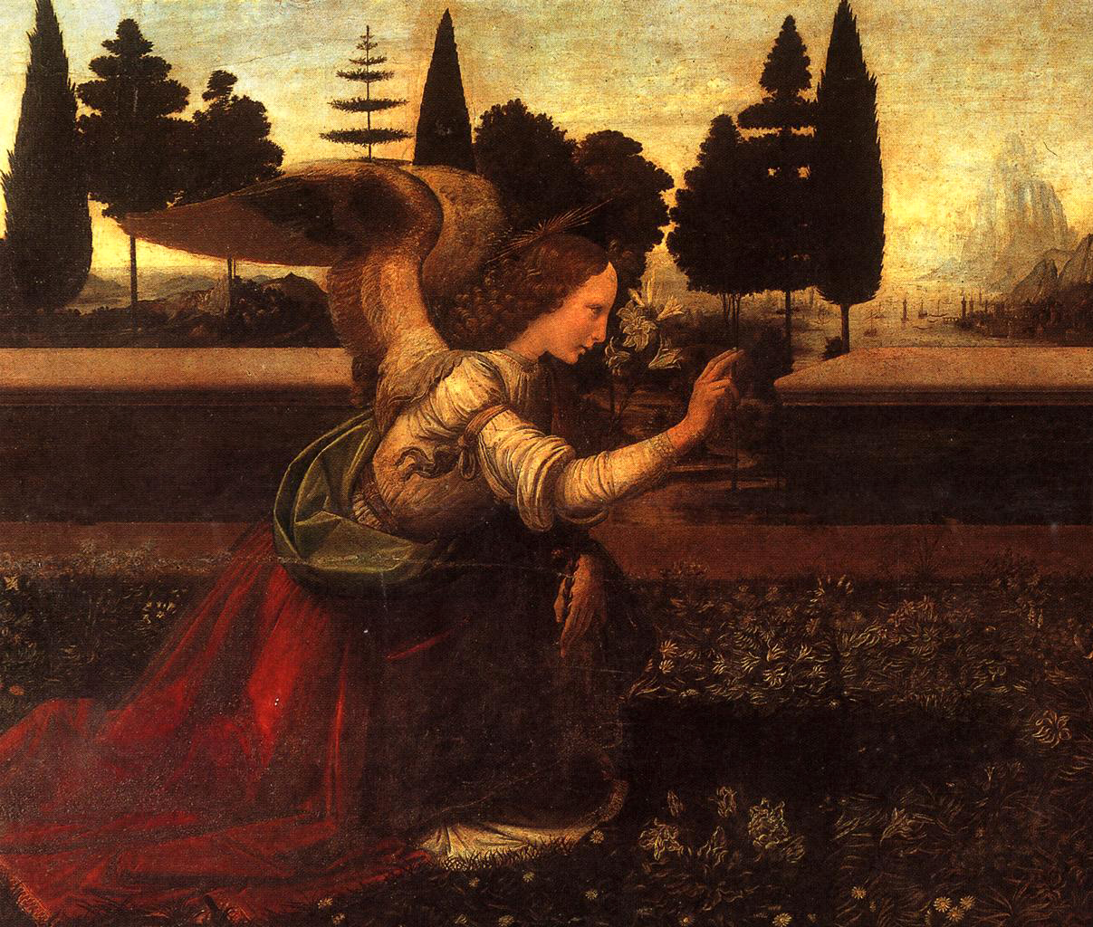 Detail from Annunciation/Leonardo