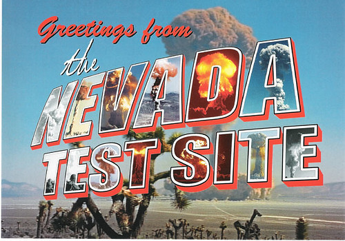 Nevada Test Site postcard.