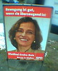 Wahlplakat von Dietlind Grabe-Bolz, SPD Gießen. Foto: Stephan 'Moe' Mosel