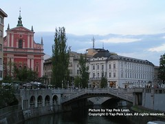 Sights along the banks of Ljubljana River